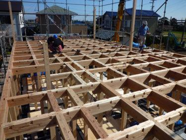 家づくりの流れ・・・木工事 ④上棟、こだわりの頑固な骨組み構造‼