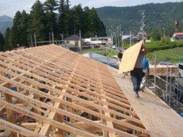 雨降りの上棟(建て方)は建物の寿命を短くする。②