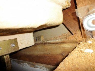 無料点検依頼で見つかった浴室床下の水漏れ腐食‼