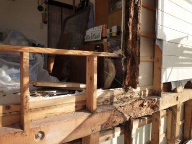 危険‼雨漏りによる構造材(桁)の腐食静岡市駿河区でリフォーム依頼。