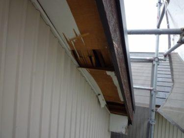 静岡市駿河区で屋根と腐食した軒周りのリフォーム依頼