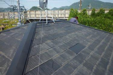 駿河区での屋根カバー工法による葺き替え工事が完了しました。③