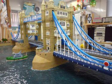 ‼手造りでテムズ川を再現したモジュールが凄い‼…事務所に展示 ①