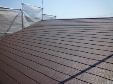 外廻り全面メンテナンス中の葵区Y様邸、屋根(塗り替え)工事完了。