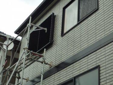 静岡市葵区、日除けを兼ねた目隠し可動ルーバーの依頼がありました。