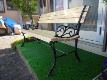 え!廃品予定のベンチ椅子が、見違える程に再生?!