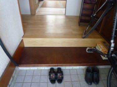 ☆玄関ホール・ローカ、床板張替えリフォーム工事完了!!③