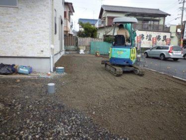 静岡市葵区0様邸完成しました!外構工事進行中です。