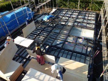 家づくりの流れ・・・木工事⑤ 2階腰骨組み、落とし込み工法とは?