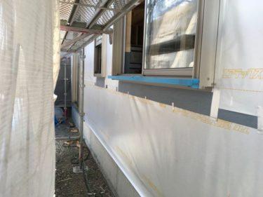 構造用面材ハイベストウッド張りと遮熱・透湿シート張りに着手‼