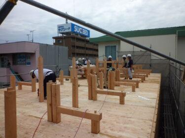 ☆小屋組みを合板で固めると耐震上効果有り❔❕